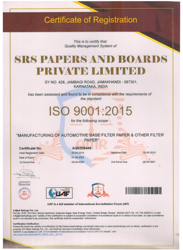 ISO 9001- 2015 Certified Company